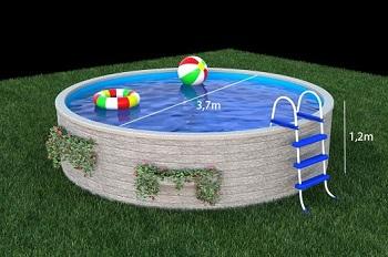 Vizualizace kruhového bazénu